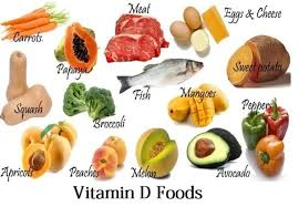 food, vitamin,d, carrot, papay, meat, ,egg, chees, broccoli, fish, sweet, potato, mango, pepperoni, apricot, peach, melon, avocado