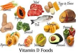 food, vitamin,d, carrot, papay, meat, ,egg, chees, broccoli, fish, sweet, potato, mango, pepperoni, apricot, peach, melon, avocado