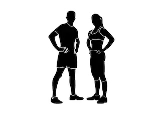 fitness body silhouette