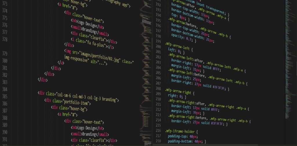 web developer code html css